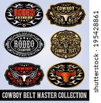 cowboy belt buckle vector... | Shutterstock .eps vector #195428861