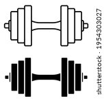 Sports Dumbbell Icon. Healthy...