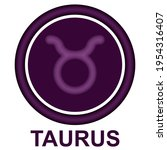 taurus zodiac sign vector...   Shutterstock .eps vector #1954316407