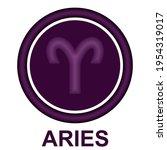 aries zodiac sign vector... | Shutterstock .eps vector #1954319017