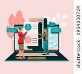 recruitment concept. search ...   Shutterstock .eps vector #1954350724