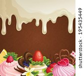 sweets dessert background with... | Shutterstock .eps vector #195435449
