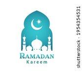 ramadan kareem logo greeting... | Shutterstock .eps vector #1954354531