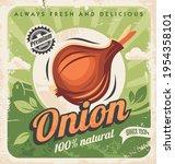 Onion Farm Vintage Poster...