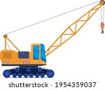 construction crane machine...   Shutterstock .eps vector #1954359037