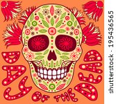 day of the dead vector... | Shutterstock .eps vector #195436565