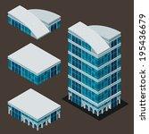 isometric building  each part... | Shutterstock .eps vector #195436679
