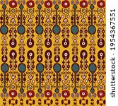 uzbek ikat traditional silk... | Shutterstock .eps vector #1954367551