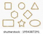 set of gold frames on... | Shutterstock .eps vector #1954387291