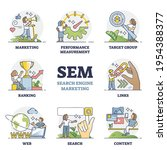 sem as search engine marketing...   Shutterstock .eps vector #1954388377