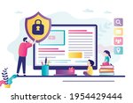 father using content control...   Shutterstock .eps vector #1954429444