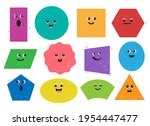 cartoon geometric shapes... | Shutterstock .eps vector #1954447477