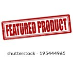 stamp with text featured... | Shutterstock .eps vector #195444965