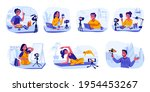 bloggers and vloggers.... | Shutterstock .eps vector #1954453267