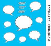 text bubbles | Shutterstock . vector #195446321