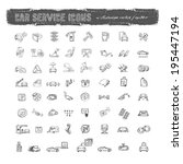 car service icons. vector format | Shutterstock .eps vector #195447194