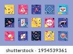 fifteen memphis style set...   Shutterstock .eps vector #1954539361