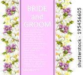 wedding invitation cards with... | Shutterstock . vector #195456605