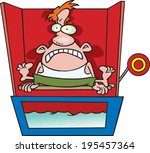 scared cartoon man sitting on a ... | Shutterstock .eps vector #195457364