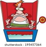scared cartoon man sitting on a ... | Shutterstock .eps vector #195457364