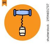 corkscrew icon vector design....