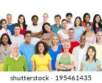 multi ethnic group of people | Shutterstock . vector #195461435