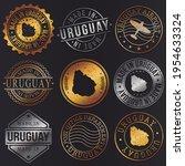 uruguay business metal stamps.... | Shutterstock .eps vector #1954633324
