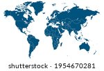 world map. color vector modern. ... | Shutterstock .eps vector #1954670281