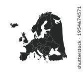 map of europe. color vector... | Shutterstock .eps vector #1954674571
