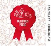 food design over gray... | Shutterstock .eps vector #195467819