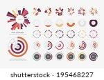 infographic elements.pie chart... | Shutterstock .eps vector #195468227