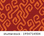 seamless african print fabric ... | Shutterstock .eps vector #1954714504