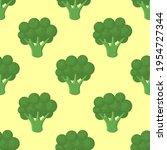 Broccoli Vegetables Seamless...