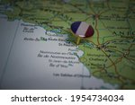 Saint Nazaire Pinned On A Map...