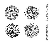 set of lettering mother quotes...   Shutterstock .eps vector #1954746787