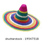 colorful sombrero isolated with ... | Shutterstock . vector #19547518