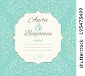 wedding invitation template.... | Shutterstock .eps vector #195475499