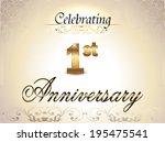1 year anniversary golden label ... | Shutterstock .eps vector #195475541