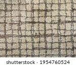 Beige Carpet With Quadrille...