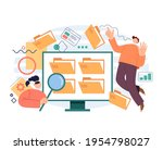 modern simple style database... | Shutterstock .eps vector #1954798027