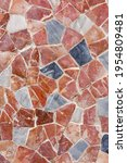 Close Up Red Marble Mosaic...