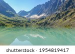 wild lake in the altai... | Shutterstock . vector #1954819417