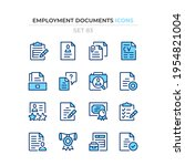 employment documents icons.... | Shutterstock .eps vector #1954821004
