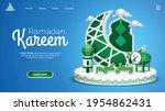 ramadan landing page with three ... | Shutterstock .eps vector #1954862431