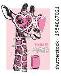 Cute Giraffe Baby Head Drawn By ...