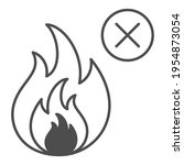 No Fire Thin Line Icon  Safety...