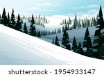 horizontal winter mountain... | Shutterstock .eps vector #1954933147