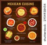mexican cuisine vector menu.... | Shutterstock .eps vector #1954938454