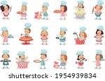 little boy ans girl characters... | Shutterstock .eps vector #1954939834
