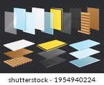 layered materials realistic set ...   Shutterstock .eps vector #1954940224